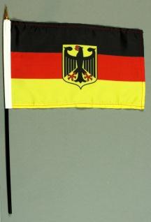 Tischflagge Deutschland Dienstflagge Adler Wappen 25x15 cm BASIC optional mit...