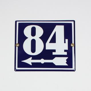 84 Pfeil links 16x14 cm sofort lieferbar Schild Emaille Hausnummer