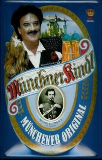 Blechschild Münchner Kindl Bier Rudolf Mooshammer München retro Schild Kneipe...
