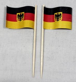 Party-Picker Flagge Deutschland Bundesdienstflagge Adler Papierfähnchen in Sp...