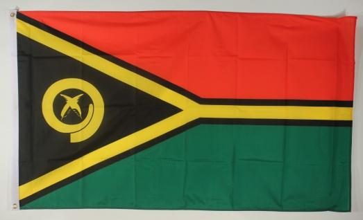 Flagge Fahne : Vanuatu Nationalflagge Nationalfahne
