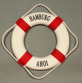 Rettungsring Deko rot 35cm Hamburg Ahoi - Vorschau