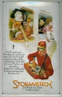 Blechschild Stollwerk Schokolade Pralinen Schild Retro Werbung Nostalgieschild