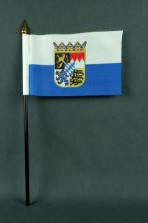 Kleine Tischflagge Bayern Landesflagge 10x15 cm optional mit Tischfähnchenstä...