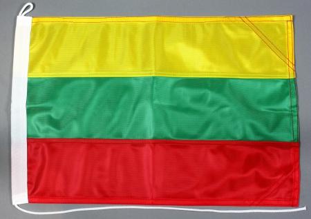 Bootsflagge Litauen 30x45 cm Motorradflagge Bootsfahne