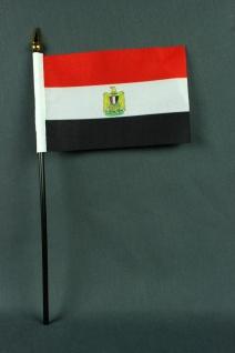 Kleine Tischflagge Ägypten 10x15 cm optional mit Tischfähnchenständer