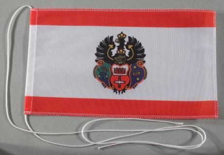 Tischflagge Königsberg Stadtflagge 25x15 cm optional mit Holz- oder Chromstän...