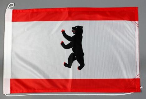 Bootsflagge Berlin 30x45 cm Motorradflagge Bootsfahne