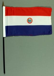Tischflagge Paraguay 15x25 cm BASIC optional mit Tischflaggenständer