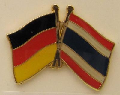 Thailand / Deutschland Freundschafts Pin Anstecker Flagge Fahne Nationalflagge