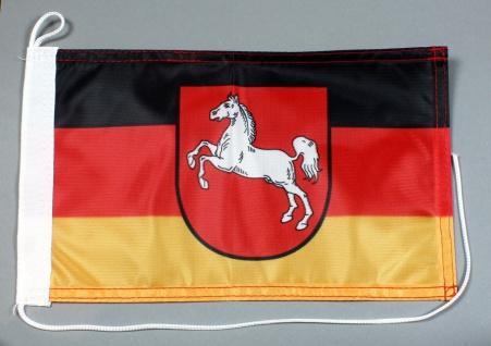 Bootsflagge : Niedersachsen 30x20 cm Motorradflagge