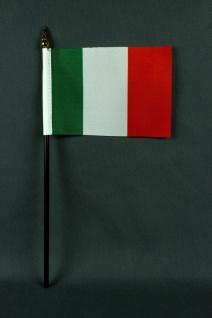 Kleine Tischflagge Italien 10x15 cm optional mit Tischfähnchenständer
