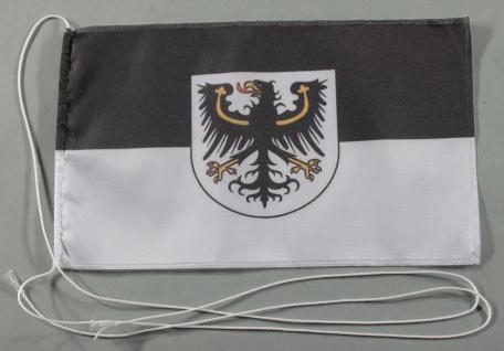 Tischflagge Ostpreußen Ostpreussen 25x15 cm optional mit Holz- oder Chromstän...