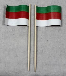 Party-Picker Flagge Helgoland Papierfähnchen in Spitzenqualität 50 Stück Beutel