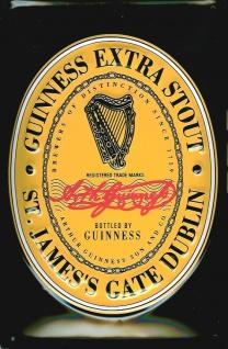 Blechschild Guinness Beer Black Label Logo Harfe Bier Werbung Schild nostalgi...