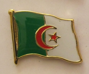 Algerien Pin Anstecker Flagge Fahne Nationalflagge