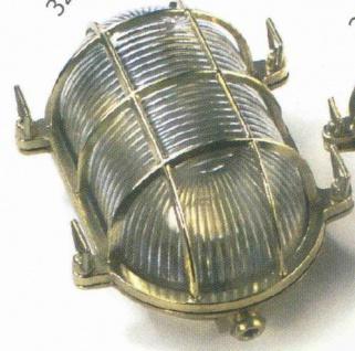 Gitterlampe Messing oval 175x130 mm Innenbefestigung 220 Volt (CHROM)