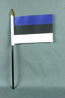 Kleine Tischflagge Estland 10x15 cm optional mit Tischfähnchenständer