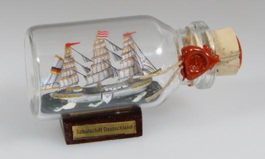 Schulschiff Deutschland Mini Buddelschiff 10 ml 5x2 cm Flaschenschiff - Vorschau 3