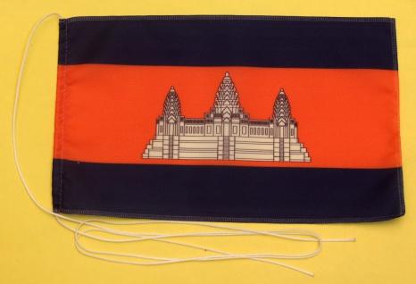 Tischflagge Kambodscha 25x15 cm optional mit Holz- oder Chromständer Tischfah...