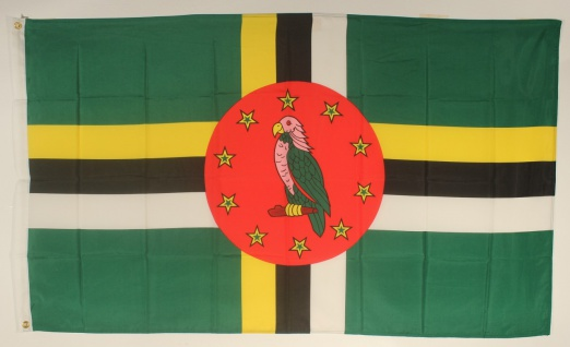 Flagge Fahne : Dominica Dominicaflagge Nationalflagge Nationalfahne