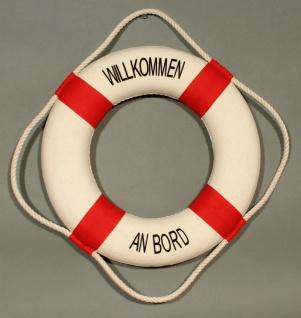Rettungsring Deko rot 35cm Willkommen an Bord - Vorschau