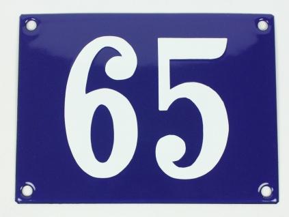 65 Ohne Rahmen blau Clarendon 12x18 cm sofort lieferbar Schild Emaille Hausnu...