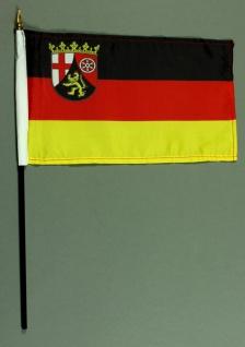 Tischflagge Rheinland Pfalz 15x25 cm BASIC optional mit Tischflaggenständer