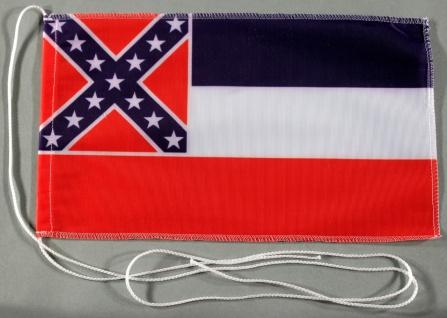 Tischflagge Mississippi USA Bundesstaat US State 25x15 cm optional mit Holz- ...