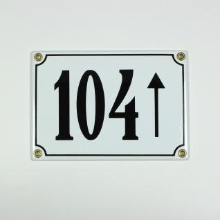 104 Pfeil geradeaus weiß 17x12 cm sofort lieferbar 3-stellig Schild Emaille H...