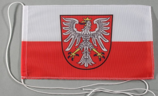 Tischflagge Frankfurt Stadtflagge 25x15 cm optional mit Holz- oder Chromständ...