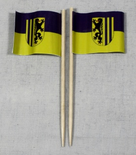 Party-Picker Flagge Leipzig Papierfähnchen in Spitzenqualität 50 Stück Beutel
