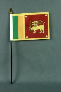 Kleine Tischflagge Sri Lanka 10x15 cm optional mit Tischfähnchenständer