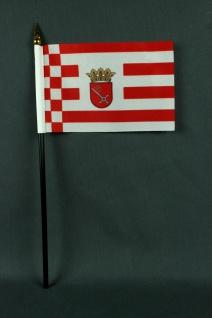 Kleine Tischflagge Bremen 10x15 cm optional mit Tischfähnchenständer