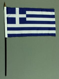 Tischflagge Griechenland 15x25 cm BASIC optional mit Tischflaggenständer