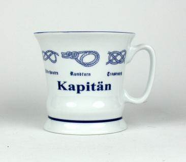 """"""" Kapitän"""" Pott mit Seemannsknoten hoch Kaffeebecher Kaffeetasse Kaffee Teepot... - Vorschau 2"""