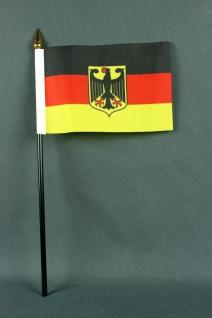 Kleine Tischflagge Deutschland Bundesdienstflagge Adler 10x15 cm optional mit...