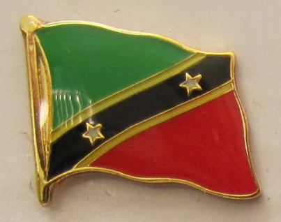 Pin Anstecker Flagge Fahne Saint Kitts Nevis Flaggenpin Button Badge Flaggen ...
