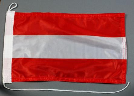 Bootsflagge : Österreich 30x20 cm Motorradflagge