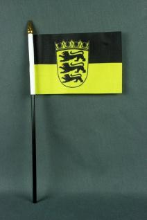 Kleine Tischflagge Baden Württemberg 10x15 cm optional mit Tischfähnchenständer