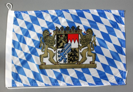Bootsflagge Bayern 30x45 cm Motorradflagge Bootsfahne