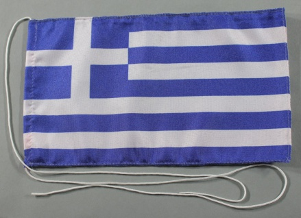 Tischflagge Griechenland 25x15 cm optional mit Holz- oder Chromständer Tischf...