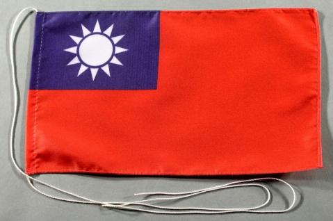 Tischflagge Taiwan 25x15 cm optional mit Holz- oder Chromständer Tischfahne T...