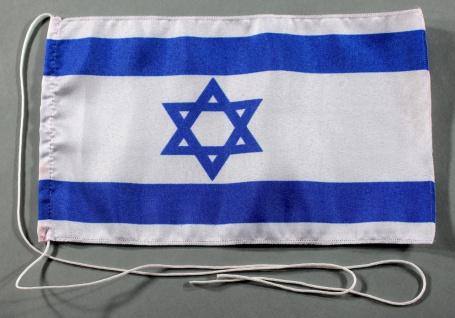 Tischflagge Israel 25x15 cm optional mit Holz- oder Chromständer Tischfahne T...