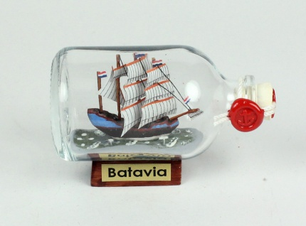 Batavia Mini Buddelschiff 50 ml ca. 7, 2 x 4, 5 cm Flaschenschiff