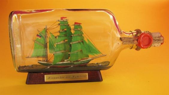 Alexander von Humboldt 375 ml Flachmann Buddelschiff ca. 21x9 cm Flaschenschiff - Vorschau