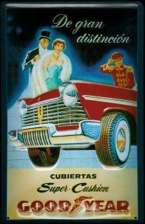 Blechschild Goodyear Reifen Oldtimer Auto Schild Nostalgieschild