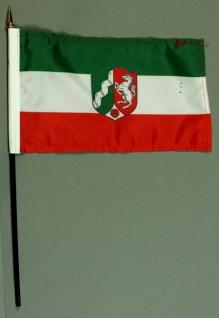 Tischflagge Nordrhein Westfalen NRW 15x25 cm BASIC optional mit Tischflaggens...