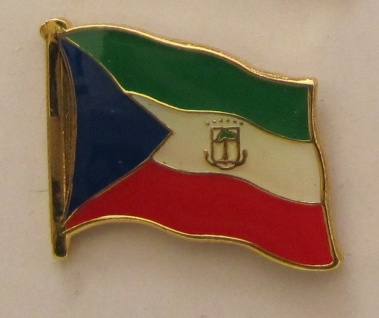 Aequatorial Guinea Pin Anstecker Flagge Fahne Nationalflagge