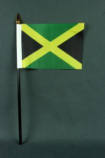 Kleine Tischflagge Jamaika 10x15 cm optional mit Tischfähnchenständer